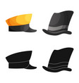 design of headgear and cap logo collection vector image vector image