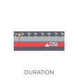 duration icon vector image