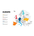 europe continent map infographic template vector image