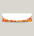 fall leaf nature banner autumn leaves season vector image vector image