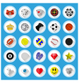 Flat icons and pictograms set vector image vector image
