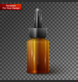 glass bottle with pipe dropper vector image vector image