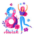 greeting card for international womens day vector image