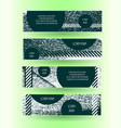 grunge style horizontal layout banner set vector image vector image