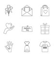 happy mothers day icon set outline style vector image vector image