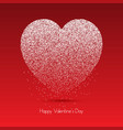 heart of dots for valentines day vector image vector image