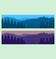 horizontal realistic forest landscape with trees vector image vector image