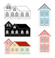 houses private mansions vector image