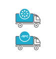 ice cream delivery fridge truck icons vector image