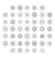 icon set with compass rose vector image