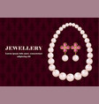 jewellery concept background realistic style vector image