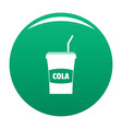 juice icon green vector image