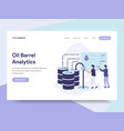 landing page template of oil barrel price vector image vector image
