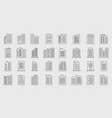 line building icons company set vector image vector image