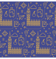 London Seamless Pattern with Big Ben vector image vector image