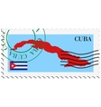 mail to-from Cuba vector image vector image