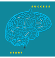 Marketing labyrinth game in brain form vector image vector image