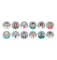 medical characters doctors and nurses portraits vector image vector image