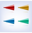 Megaphones set different colors vector image