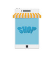 mobile phone internet online shopping and vector image vector image