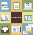 Mobile Service Online Bookstore vector image