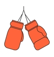Pair of red leather boxing gloves vector image