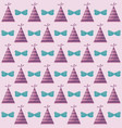 party hat with bow decorative pattern vector image vector image