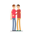 people happy isolated young happy man standing vector image