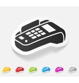 realistic design element POS terminal vector image