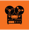reel tape recorder icon vector image vector image
