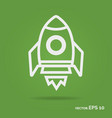 rocket outline icon white color vector image vector image