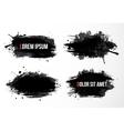 Set of four big black grunge spots vector image