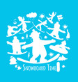 snowboard time sketch for your design vector image