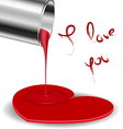 Spilled paint forming a heart vector image vector image