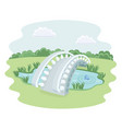 stone footbridge vector image