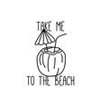 summer beach t shirt design vector image vector image