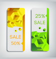 two vertical sale banners vector image