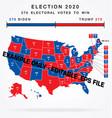 usa editable 2020 electorial college map vector image vector image