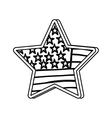 usa flag emblem vector image vector image