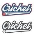 Vintage cricket label and badge