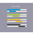 web scrollbars with light colors vector image vector image