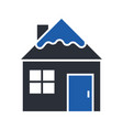 winter house glyph icon vector image