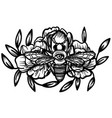 witchcraft bee with eye occult bee magic vector image
