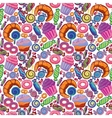 Yummy colorful sweet lollipop candy donuts vector image