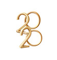 2020 new year holiday 3d golden numbers vector image vector image