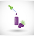 acai berry oil flat icon vector image vector image