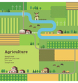 agriculture background tractor vector image vector image