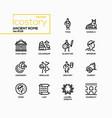 ancient rome - line design style icons set