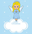 angel card on cloud vector image