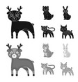 animals domestic wild and other web icon in vector image vector image